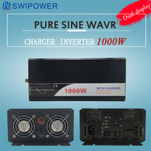 ups inverter 1000W pure sine wave inverter with charger 12V 24V 48v DC to AC 220V 230V 240v solar power inverter(China)