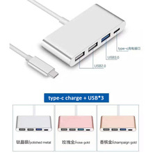 NEW Type C To 4-Port USB 3.0 Hub OTG Charger Cable Adapter for LE LETV Mobile Phone Notebook Type-C PD