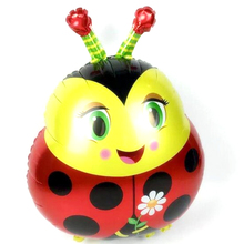 48.5*67.5cm Kids Child Gift Cartoon Ladybug Foil Balloon Ladybird Happy Birthday Party Wedding Decoration Inflatable Air Balloon(China)