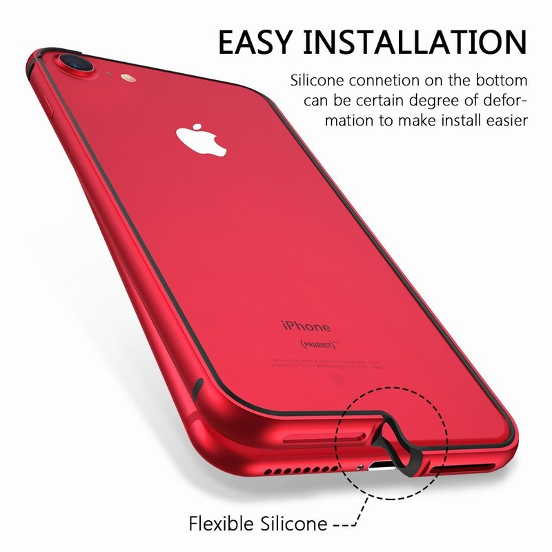 Ascromy For iPhone 8 Case Aluminum TPU Silicone Hybrid Shockproof Bumper Case for iPhone 7 Plus 8 8Plus 7Plus Metal Frame Coque (7)