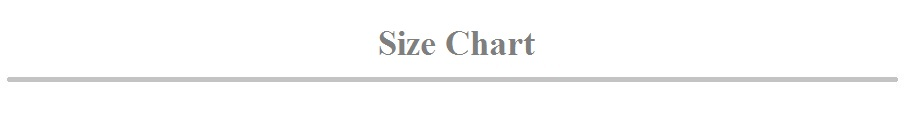 size shart