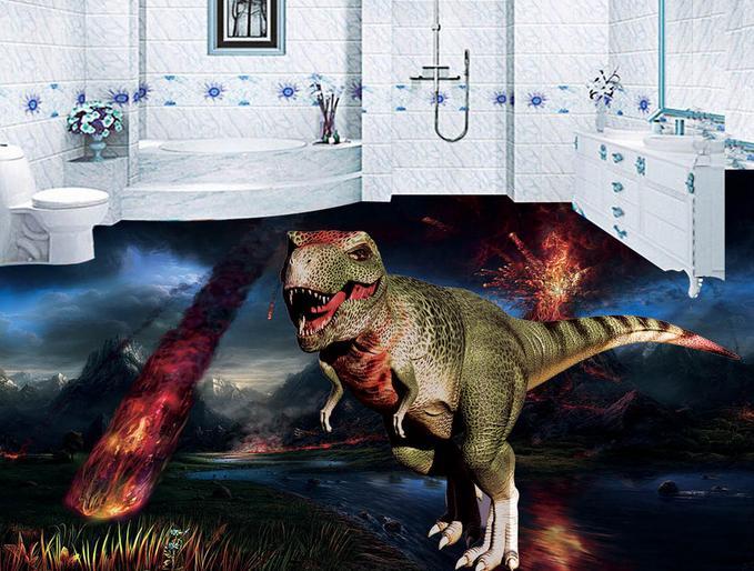 behang customized 3d flooring The dinosaur wallpaper 3d floor tiles for bathrooms 3d floor room wallpaper landscape<br><br>Aliexpress