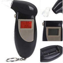 Quick Response Professional LCD Alcohol Tester Digital Alcohol Detector Breathalyzer 2016 Police Alcotester Backlight Display(China)