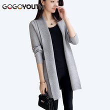 Gogoyouth Long Cardigan Female 2017 Spring Autumn Long Sleeve Tricot Cardigan Women Sweater Jacket Crochet Winter Tops Coat(China)