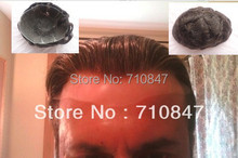 100% indian remy hair all french lace  hair replacement  mens toupee wig , hair piece  free shipping