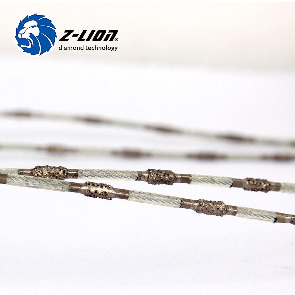Z-LION 2.2 mm Diamond Cutting Wire Brazed Diamond Super Thin Diamond Wire Saw For Cutting Marble Granite Concrete Stone<br><br>Aliexpress