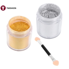 New 15g Shining Metal Powder Dust Magic Mirror Nail Art Pigment Manicure Decoration With Brush