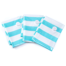 3pcs Green Striped Wardrobe Organizer Vacuum Clothes Storage Bags Large Compression Bag New Design Space Saver Toy Rangement
