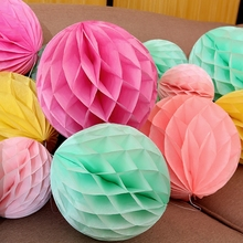 1pcs/lot 6inch-12inch tissue paper honeycomb ball Wedding decoration party suppliers decorations for party/baby shower