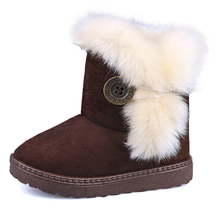 Kids Girls Snow Boots Kids Winter Boots Suede Warm Little Girl's Shoes Child Fashion Toddler/little Kid/big Kid