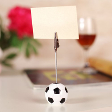 Wholesale Sports Fashion Football Design Wire Memo Holder Paper Note Clip Office Supplies
