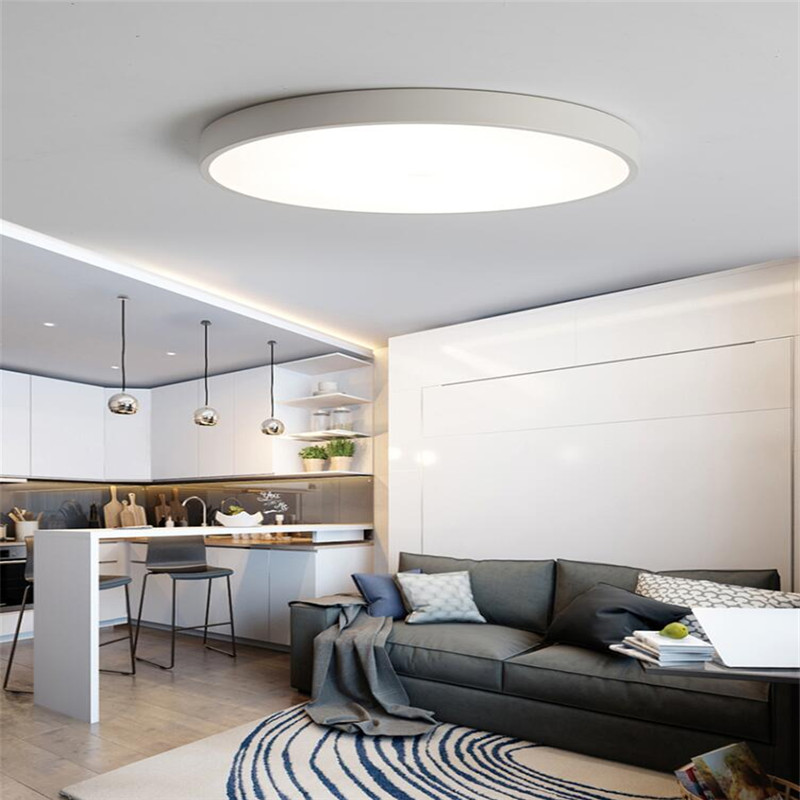 White Frame 36W Ultra-thin Modern Simplicity Hall, Round Led Ceiling Light High Energy Saving LED Ceiling Lamp AC 111-240V 5CM<br>