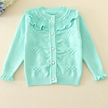 Retail New Hot Girl Clothing Kids Sweater Knitted Sweater Girls Sweater Cardigan Autumn Winter Kids Cardigan For Girls AS-1633