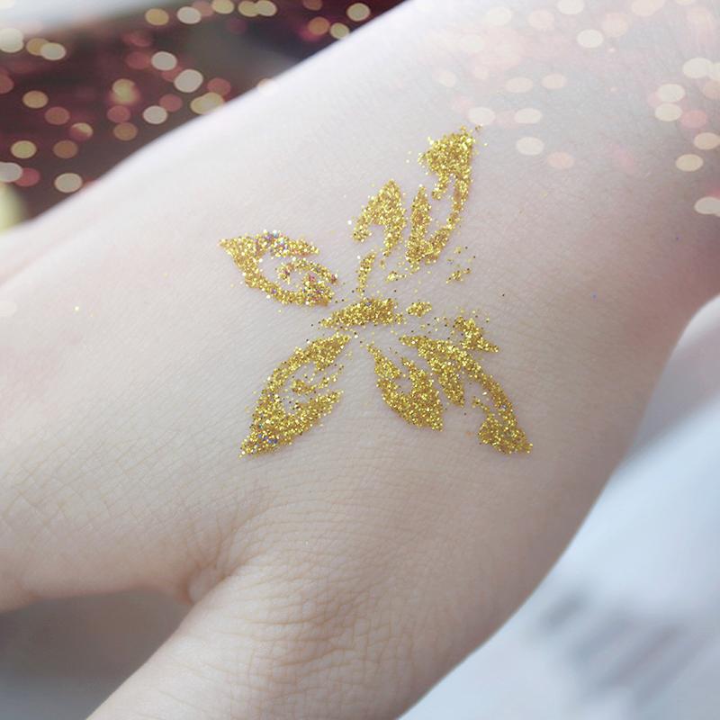 OPHIR Glitter Tattoo 6 Colors Glitter Powder for Body Art Paint Nail Temporary Glitter Tattoo Kit with 10x Stencils Glue _TA054 15