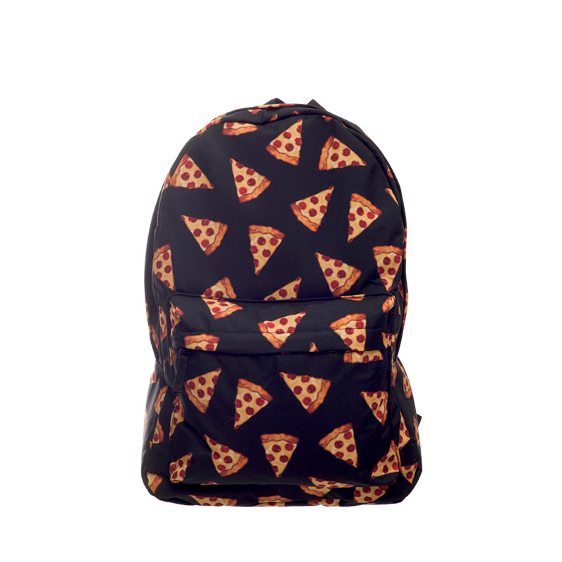 Black Pizza 3D Printing daily backpack women bag 2017 Fashion New backpacks mochila school bags for teenagers sac a dos<br><br>Aliexpress