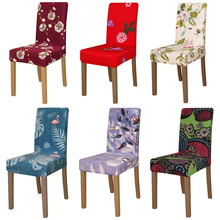 Printing flowers Chair Cover checked pattern Chair Covers seat cover Hotel Party Banquet for christmas decorations for home gift