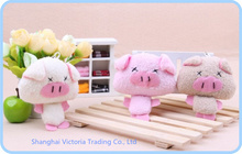 10PCS Kawaii Piggie 7*6CM  DOLL Plush Stuffed TOY DOLL -  Phone Charm Strap Lanyard Pendant BAG Key Chain