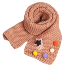 New Fashion Children Knit Scarf Thickening Collar Kids Warm Neck Shawl Baby Boys Girls Cute Accesorries For Winter Autumn Spring(China)