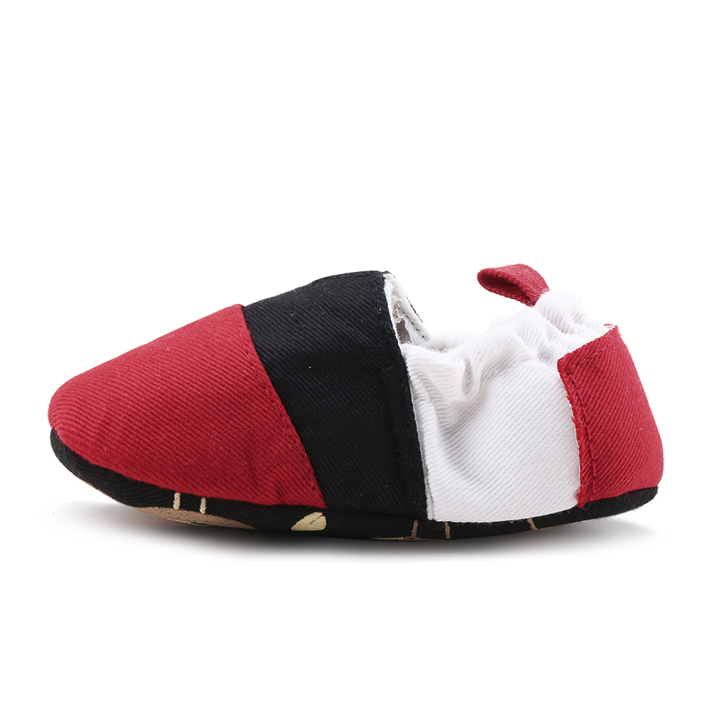 New Design Slip-On Baby Shoes Girls Anti-slip Soft Sole Unisex Prewalkers Shallow Cotton Fabric Newborn First Walkers