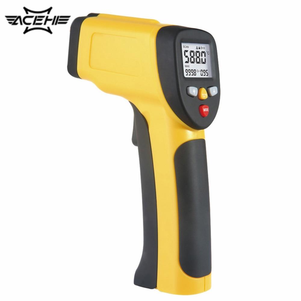 Multi Purpose Dual Laser LCD Display IR Infrared Thermometer -50 To 1050 Degree Celsius Temperature Meter Sensor HT-819<br>