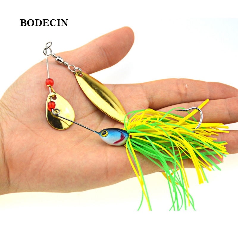 1PS Fishing Lure Wobblers Lures Wobbler Spinners Spoon Bait For Pike Peche Tackle All Artificial Baits Metal Sequins Spinnerbait (2)