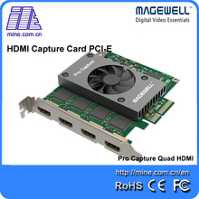 Full HD Video Capture Card Quad HDMI PCI-e 2.0 HDMI 4 Input Capture Software with embedded audio(China)