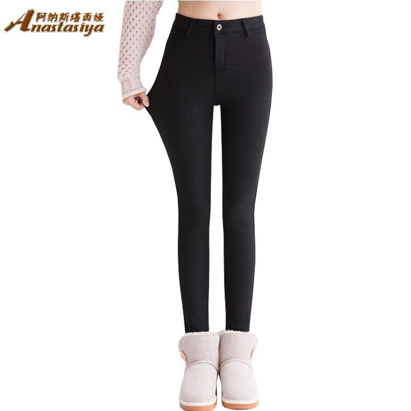 Womens winter warm velvet high waist jeans Black skinny jeans Pants for woman Plus size black demin trousers ladies pant FemmeОдежда и ак�е��уары<br><br><br>Aliexpress