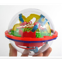 Brain Teaser Game Perplexus Sphere Maze,100 Steps Size Labyrinth Magic Rolling Globe Ball Marble Puzzles for Kids Christmas Toy