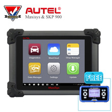 Original AUTEL MaxiSys MS908 Car Diagnostic Scanner Tool Free Update Online &SuperOBD SKP-900 Hand-Held OBD2 Auto Key Programmer