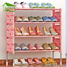 New Shoe Rack Space Saving Shoe Cabinet Dust Proof Moisture Proof Shoes Organizer Living Room Furniture Shoes Holder Shelf(China)