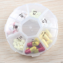 Weekly 7 Days Tablet Pill Medicine Sorter Box Holder Storage Organizer Container Case Pill Storage Box XN036