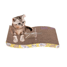 Pet Cat S-shaped Paper Mill Scratch Cat Toy Box Bed Scratching Board Protect Cat Paw Furniture Catmint Litter Catnip(China)