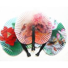 2Pcs Retro Fashion Chinese Classic Folding Small Round Paper Fan Home Decoration Hot