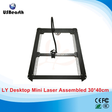 LY 3040 500mw metal desktop mini laser engraving machine carving size 30*40cm with limitation auto middle seeking function