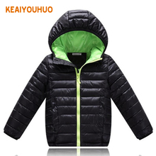 New Kids Fashion Casual Cotton-padded Jackets Boy's Long Sleeve Hooded Coats Boy Coat Baby Girl Jacket Kids Warm Clothes