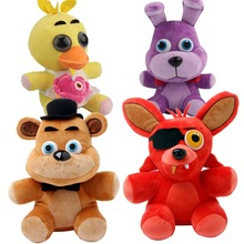 4pcs FNAF Five 5 Nights at Freddy's FREDDY FOXY Bonnie Chica Plush Toy Doll Game Anime Stuffed Plush Cute Toys(China)