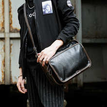 PU Leather Men Bag Fashion Trend School Casual Single Messenger Shoulder Satchel Male Cross Body Bags(China)