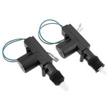 Newest 2pcs 12V Door Power Central Lock Kit with 2 Wire Actuator for Universal Car Entry Car Remote Control Accessories