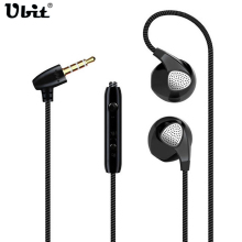 Ubit Earphone For iPhone 6 6S 5 5S Headphones With Microphone 3.5mm Jack Bass Auricuares Headset For Apple Xiaomi Sony