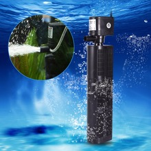 3 in 1 Multi-function Aquarium Filter Submersible Oxygen Pump Spray Purifier Water Quality Fish Tank Filter Tool EU Plug