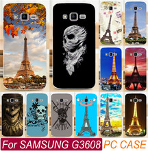 Best Selling Eiffel Tower Series Skull PC Plastic Shell For Samsung Galaxy Core Prime G3608 G3606 G360 Cell Phone Case Cover