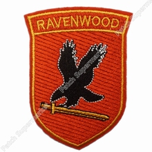 "3.5"" JERICHO Patches TV Series Ravenwood Security Logo Chest Costume Embroidered Emblem applique sew on iron on patch pants bags(China)"