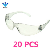 20 PCS Safety Glasses Lab Eye Protection Protective Eyewear Clear Lens Workplace Safety Goggles Supplies(China)