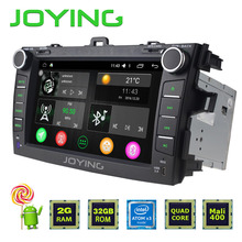Joying latest 2GB Double 2 Din Android 5.1 Car Radio GPS Navigation Head unit Steering wheel HD No DVD System For Toyota Corolla