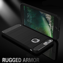 Rugged Armor Hybrid Carbon Fiber Shockproof Ultimate hard Case Cover for iPhone 7 Plus 6 6S SE 5 5S Samsung S8 plus 50pcs/lot(China)