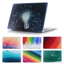 "New Rainbow Gredient Bulb idea Print Hard Cover Case For Apple Macbook Air Pro 11.6"" 13.3"" 15.4"" 12'' With Retina Display"