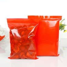 100pcs/lot thickness 200micron, sizes=3x4cm~20x30cm Plastic red color PE zipper ziplock reclosable valve packing bags, earings