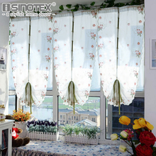 Pastoral Strawberry Voile Roman Curtains Gauze For Kitchen Window Curtains Living Room Tulle Freeshipping