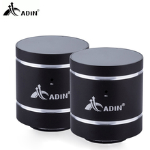 ADIN 1 Pair Metal 20W Bluetooth Vibration Speaker NFC HIFI Bass Speaker 3D Stereo Handsfree Call Subwoofer For Phone PC Computer
