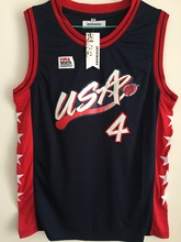SexeMara Charles Barkley #4 USA Blue Retro Throwback Stitched Basketball Jersey Sewn Camisa Embroidery Logos(China)